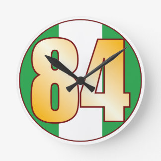 ナイジェリアの84金ゴールド ラウンド壁時計