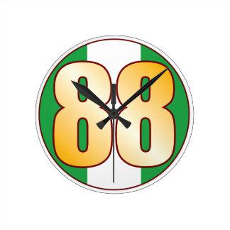ナイジェリアの88金ゴールド ラウンド壁時計