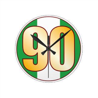 ナイジェリアの90金ゴールド ラウンド壁時計