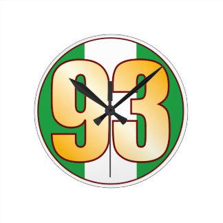 ナイジェリアの93金ゴールド ラウンド壁時計