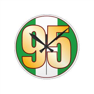 ナイジェリアの95金ゴールド ラウンド壁時計