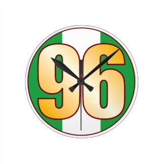 ナイジェリアの96金ゴールド ラウンド壁時計
