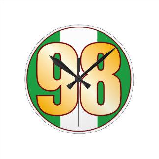 ナイジェリアの98金ゴールド ラウンド壁時計
