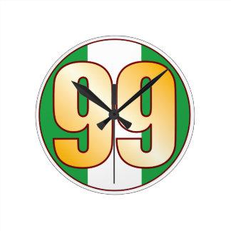 ナイジェリアの99金ゴールド ラウンド壁時計