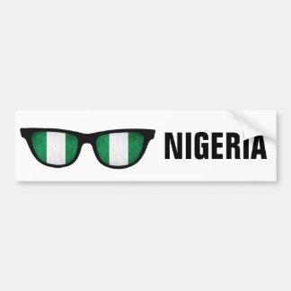 ナイジェリアはカスタムな文字及び色のバンパーステッカーを影で覆います バンパーステッカー