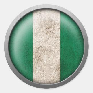ナイジェリアディスクの旗 ラウンドシール