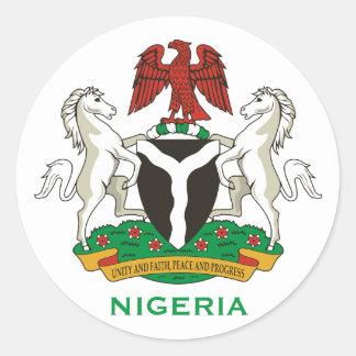ナイジェリア-頂上の円形のステッカー ラウンドシール