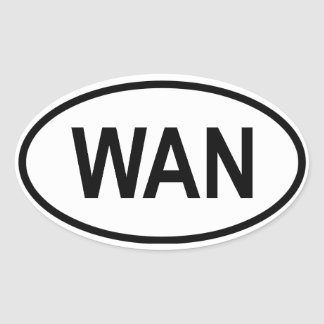 """ナイジェリア""""WAN """" 楕円形シール"""