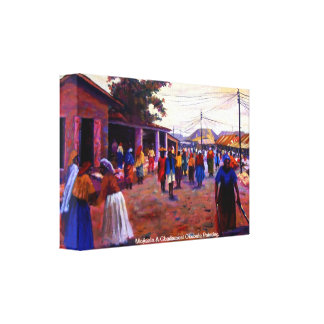 ナイジェリアMojisola Gbadamosi Okubuleの人々 キャンバスプリント