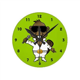 ナイトクラブの芸能人 ラウンド壁時計