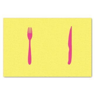 ナイフおよびフォークのティッシュペーパー 薄葉紙