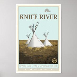ナイフの川のインドの村の国民の史跡 ポスター