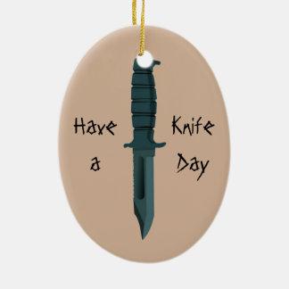 ナイフはナイフ日を過します セラミックオーナメント