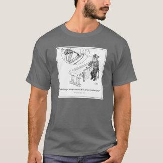 ナイフは漫画のTシャツに蝶番を付けます Tシャツ