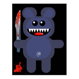 ナイフを持つくま ポストカード