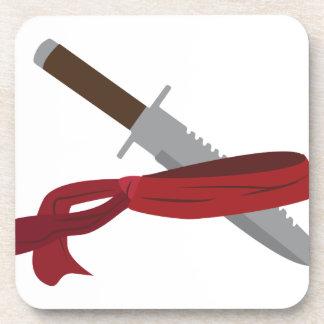 ナイフ及びバンダナ コースター