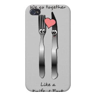 ナイフ及びフォークのように一緒に行って下さい iPhone 4/4S ケース