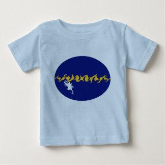 ナウルのすごい旗のTシャツ ベビーTシャツ