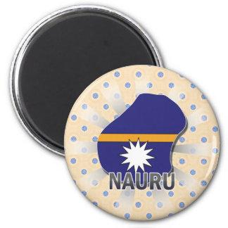 ナウルの旗の地図2.0 マグネット