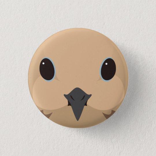 ナゲキバト-Mourning dove 3.2cm 丸型バッジ