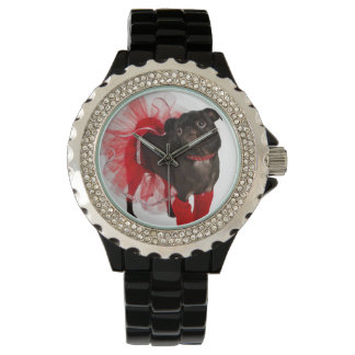 ナゲット、APARN SpokesPugのラインストーンの腕時計 腕時計