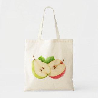 ナシおよびりんごの半分 トートバッグ