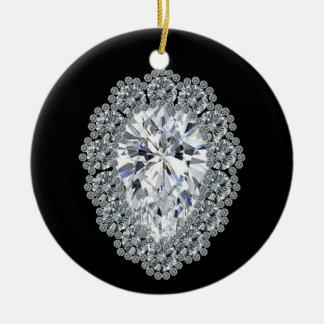 ナシのダイヤモンドPin セラミックオーナメント