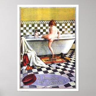 ナシの石鹸の子供の浸ること ポスター