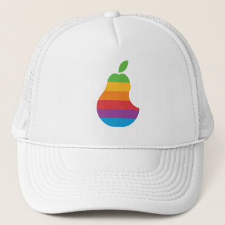 ナシコンピュータ-レトロのアップルコンピュータのパロディの帽子 キャップ