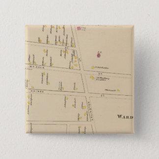 ナシュアの区7、Edgeville 5.1cm 正方形バッジ