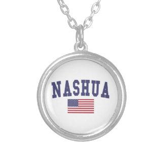 ナシュア米国の旗 シルバープレートネックレス