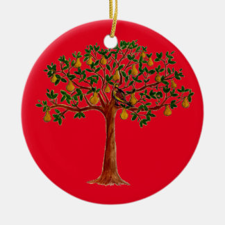ナシ木のクリスマスのオーナメントのP セラミックオーナメント