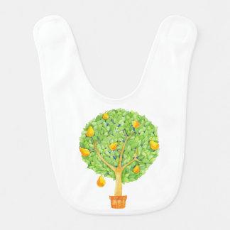 ナシ木のベビー用ビブ ベビービブ