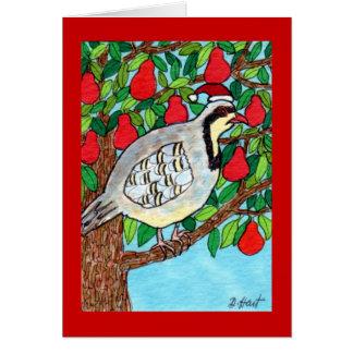 ナシ木のヤマウズラ カード