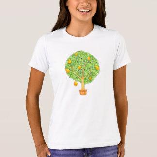 ナシ木の女の子のアメリカの服装のTシャツ Tシャツ