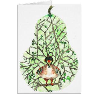 ナシ木の挨拶状のヤマウズラ カード