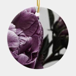 ナスの紫色のシャクヤク セラミックオーナメント