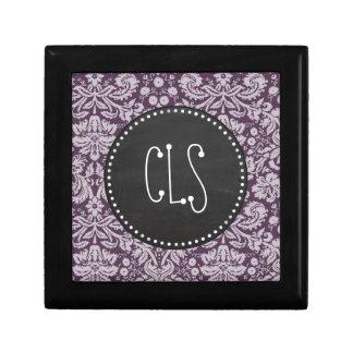 ナスの紫色のダマスク織; チョークの一見 ギフトボックス