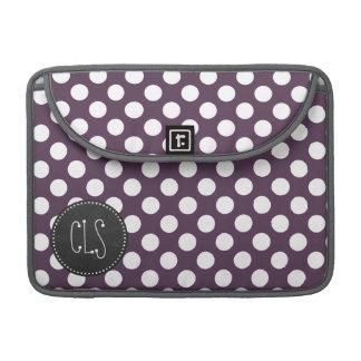 ナスの紫色の水玉模様; 黒板 MacBook PROスリーブ