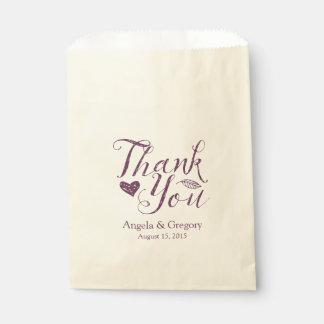 ナスの紫色は結婚式の引き出物のバッグ感謝していしています フェイバーバッグ