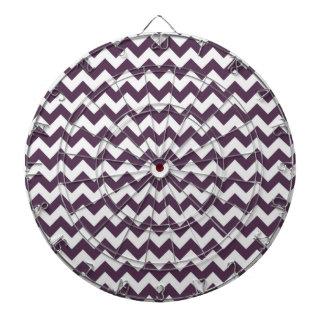 ナスの紫色シェブロン; ジグザグ形 ダーツボード