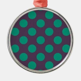 ナスの緑の水玉模様 メタルオーナメント