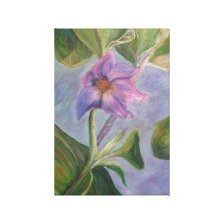 ナスの花のキャンバスのプリント キャンバスプリント
