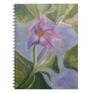 ナスの花のノート ノートブック
