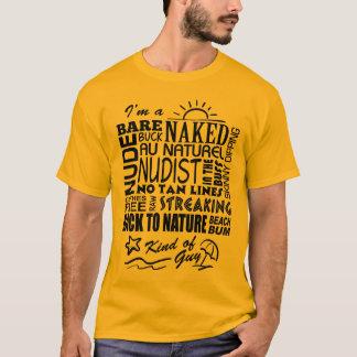 ナチュリストまたはヌーディストの人 Tシャツ