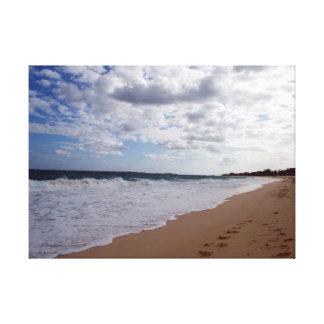 ナッサウのビーチ キャンバスプリント