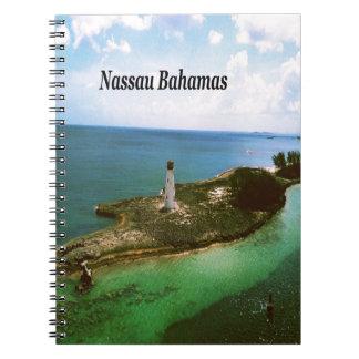 ナッサウバハマの港の灯台 ノートブック