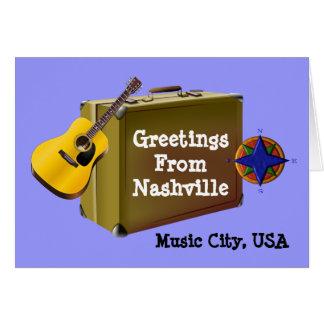 ナッシュビルからの挨拶 カード