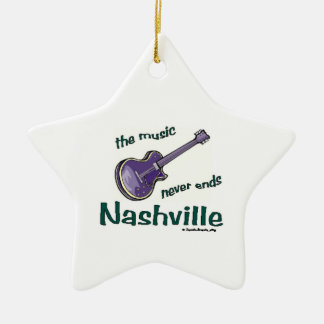 ナッシュビルのギター セラミックオーナメント
