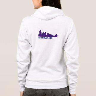 ナッシュビルのスカイラインの紫色 パーカ